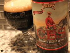 Founders CBS (Canadian Breakfast Stout). The second release in the Backstage Series, and one of the most sought after. The base in imperial stout, brewed with coffee, chocolate, and finished in bourbon barrels with maple syrup. PIC: Beer Street Journal